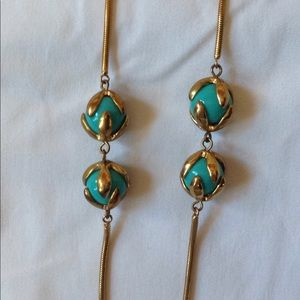 BCBG gold and turquoise necklace